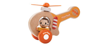 PlanToys Schiebe-Helikopter