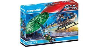 PLAYMOBIL® 70569 Polizei-Hubschrauber: Fallschirm