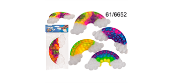 Plop Up Fidget Game - Mulitcolor Regenbogen
