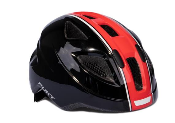 Puky 9596 - Helm PH8 M/L schwarz/rot (51 - 56 cm)