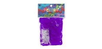 Rainbow Loom® Gummibänder lila jelly