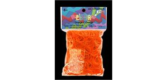 Rainbow Loom® Gummibänder orange jelly