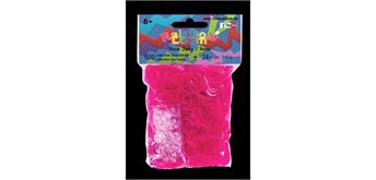 Rainbow Loom® Gummibänder rose jelly