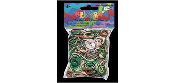 Rainbow Loom® Gummibänder tarnfarben opaque
