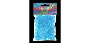 Rainbow Loom® Silikonbänder glitzer blau