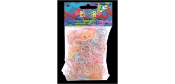Rainbow Loom® Silikonbänder glitzer mix