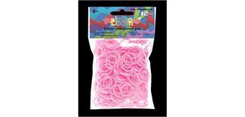 Rainbow Loom® Silikonbänder glitzer pink