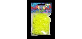 Rainbow Loom® Silikonbänder neon gelb