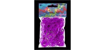 Rainbow Loom® Silikonbänder neon lila