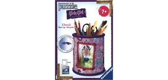 Ravenburger Puzzle 3D Utensilo Pferde, Girly Girl Edition, H: 9 cm,