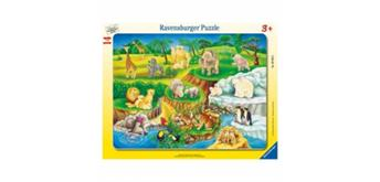 Ravensburger Puzzle 06052 Zoobesuch, 14 Teile