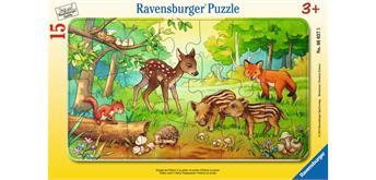 Ravensburger Puzzle 06376 Tierkinder des Waldes