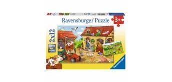 Ravensburger Puzzle 07560 Fleissig a.d. Bauernhof - 3+