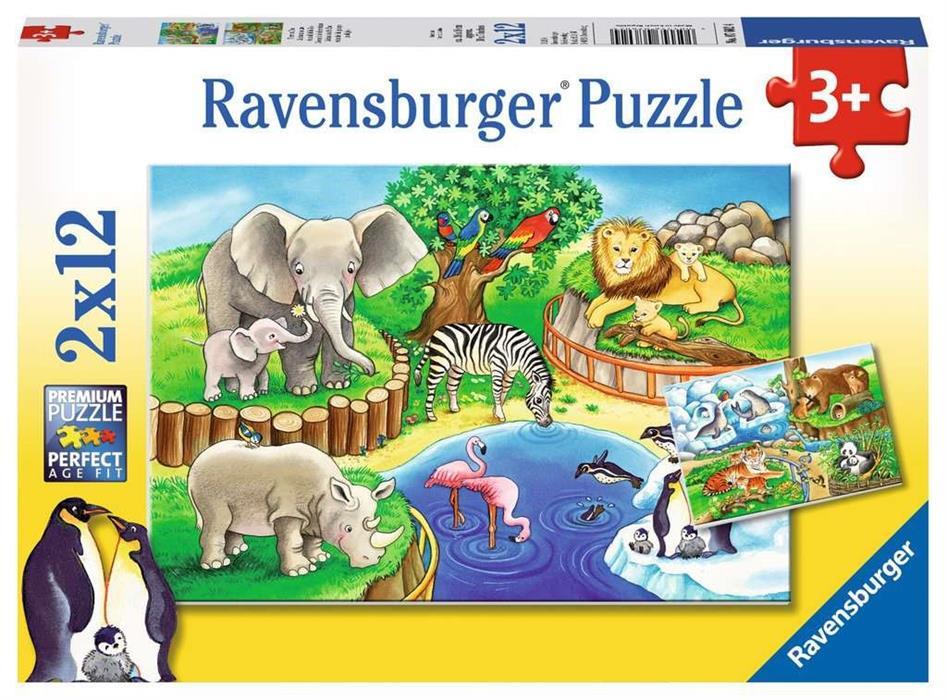 2 x 12 Teile Ravensburger Kinder Puzzle Fleißig auf dem Bauernhof 07560