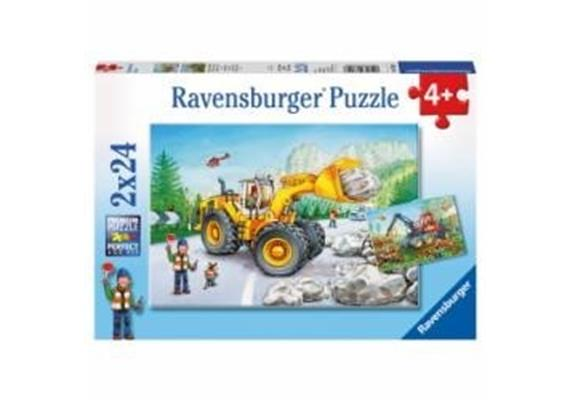 Ravensburger Puzzle 07802 Bagger & Waldtraktor 2x 24