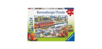 Ravensburger Puzzle 09191 Trubel am Bahnhof