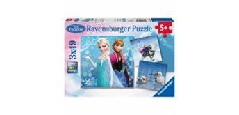 Ravensburger Puzzle 09264 Abenteuer im Winter 3x49T, 5+