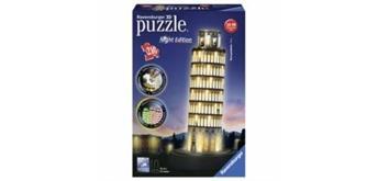 Ravensburger Puzzle 12515 3D Pisa bei Nacht