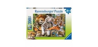 Ravensburger Puzzle 12721 Schmusende Raubkatzen