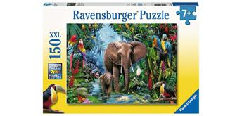 Ravensburger Puzzle 12901 Dschungelelefanten