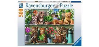 Ravensburger Puzzle 14824 Katzen im Regal