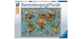 Ravensburger Puzzle 15043 Schmetterling-Weltkarte
