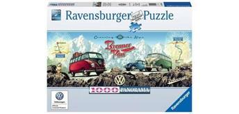 Ravensburger Puzzle 15102 Mit dem VW Bulli über den Brenner