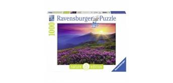 Ravensburger Puzzle 19608 Bergwiese Morgenrot, 1000 Teile