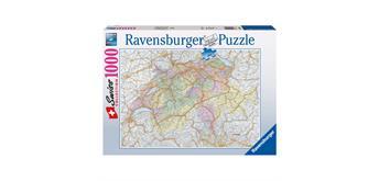 Ravensburger Puzzle 88972 - Schweizerkarte