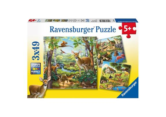 Ravensburger Puzzle Wald-,Zoo-,Haustiere