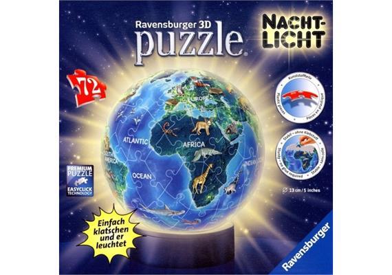 Ravensburger Puzzleball Erde im Nachtdesign