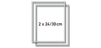 Schipper - Malen nach Zahlen - 2 x Alurahmen Silber 24 x 30 cm