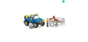Schleich Dino 41464 Geländewagen mit Dino Aussenposten