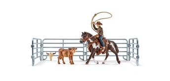 Schleich Farm World 41418 Team roping mit Cowboy