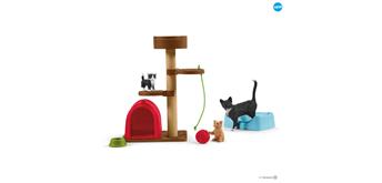 Schleich Farm World 42501 Spielspass für niedliche Katzen