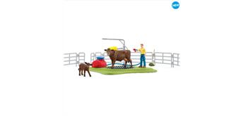 Schleich Farm World 42529 Kuh Waschstation