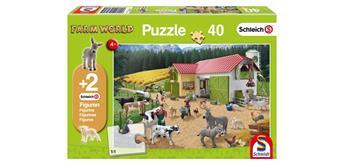 Schmidt Spiele GmbH Ein Tag auf dem Bauernhof, 40 Teile (inkl. Original-Figur)