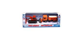 Schneepflugset 2-teilig Pistenbully + Lastwagen