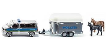 siku Super: Polizei PKW mit Pferdeanhänger