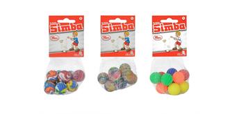 Simba - 10 Springbälle im Netz, 3-assortiert