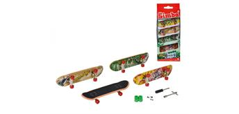 Simba Finger Skateboard 4-er Set