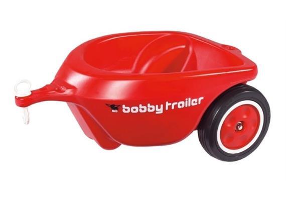 Simba New BIG-BOBBY-CAR Anhänger rot, mit Flüster.