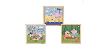 Simba - Peppa Pig, Einlegepuzzle, 3-fach sortiert