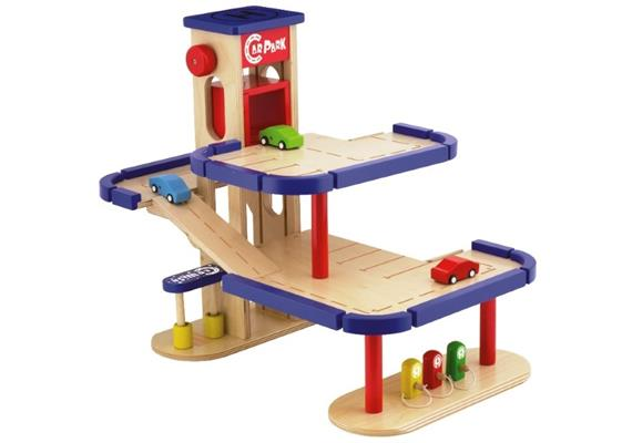 Spielba Parkhaus mit 3 Autos