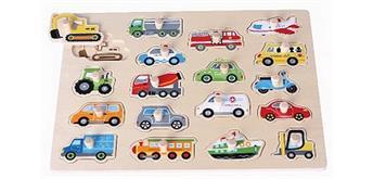 Spielba Puzzle Fahrzeuge gross mit Griffli