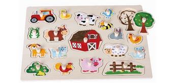 Spielba Puzzle Tiere gross mit Griffli