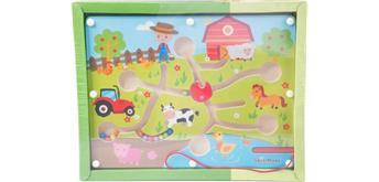 SpielMaus Kugellabyrinth + Magnetstift Bauernhof