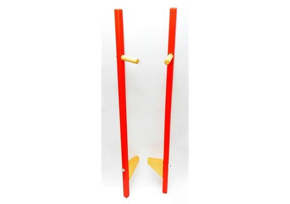 Stelzen kurz rot verstellbar - Länge 108