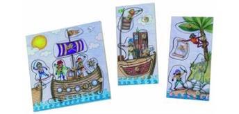 Stempelspiel Piratenwelt mit 24 Stempel