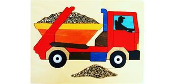 Steppenblüte Lastautopuzzle